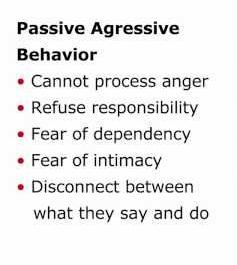 Passive aggressive husband